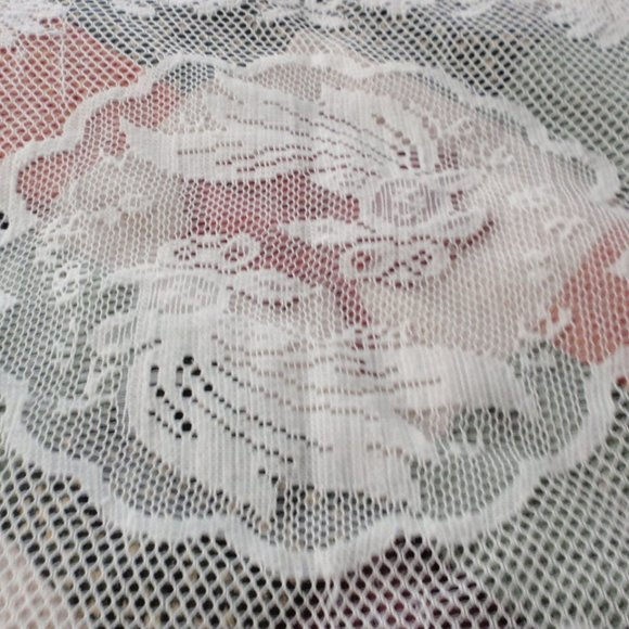 Greek Goldfish Antique Crochet Lace TableCovering